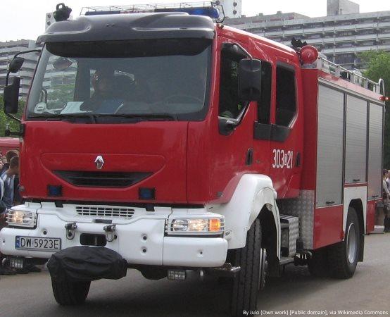 KMPSP Gdynia: Pożar budynku mieszkalnego - 4 lutego 2019 roku.